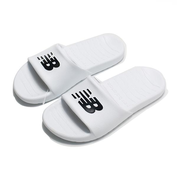 NEW BALANCE 拖鞋 白 黑LOGO 防水 男女 (布魯克林) SUF100TW