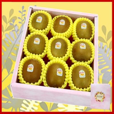 愛蜜果 紐西蘭Zespri金圓頭黃金奇異果9入禮盒