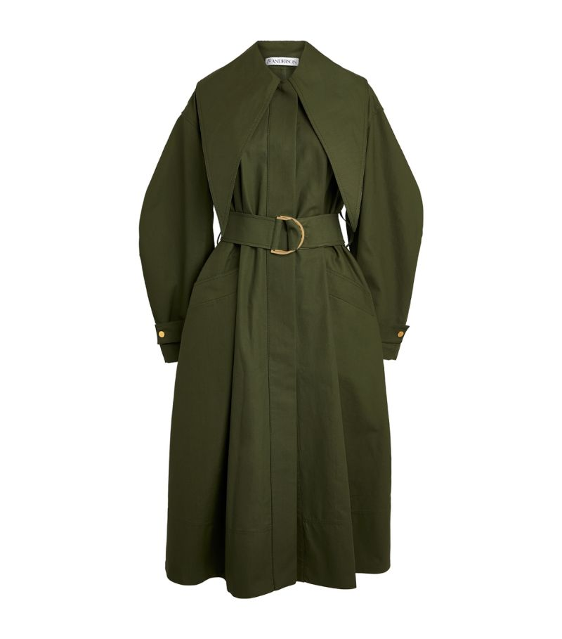 Jw Anderson Exaggerated-Collar Trench Coat