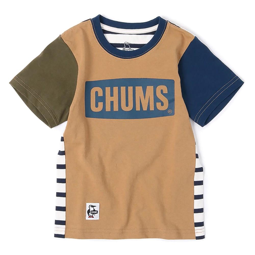 CHUMS Kids Logo 中大童 美國棉短袖T恤 Crazy CH211175C004