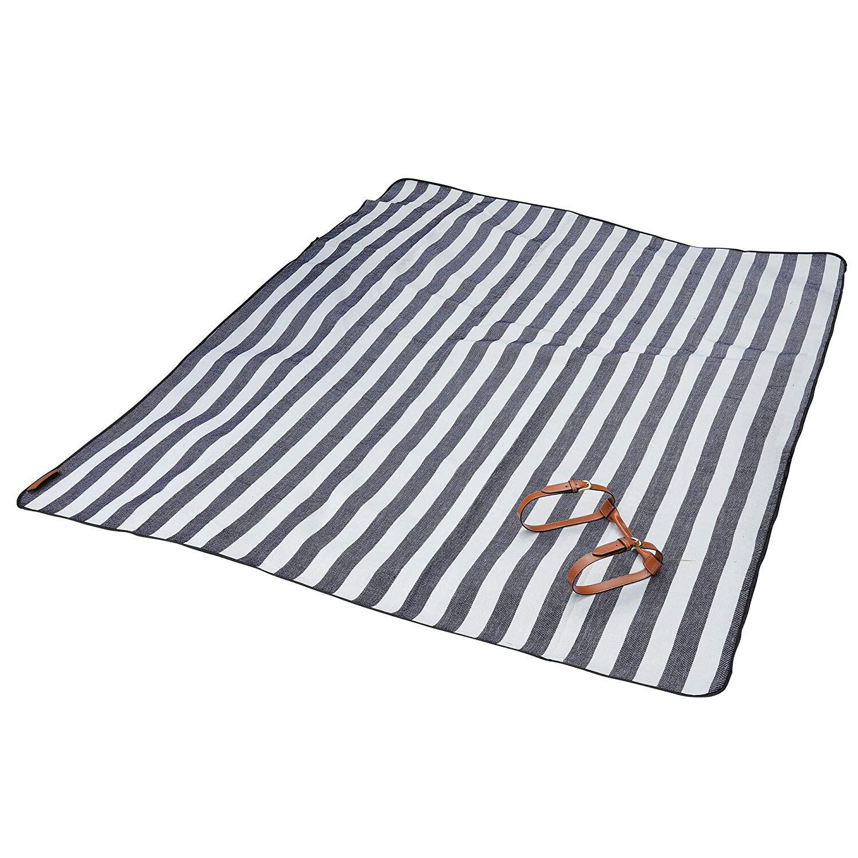 腈綸防潮墊加厚沙灘墊 戶外野餐墊地席帳篷野餐墊 皮革手提野餐墊