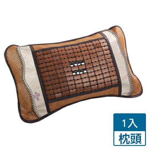 新型碳化麻將竹茶葉枕(53x34x9cm)【愛買】
