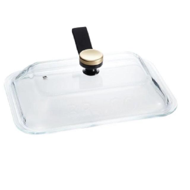 日本 BBRUNO BOE021-GLASS 電烤盤專用玻璃蓋 電烤盤專用配件