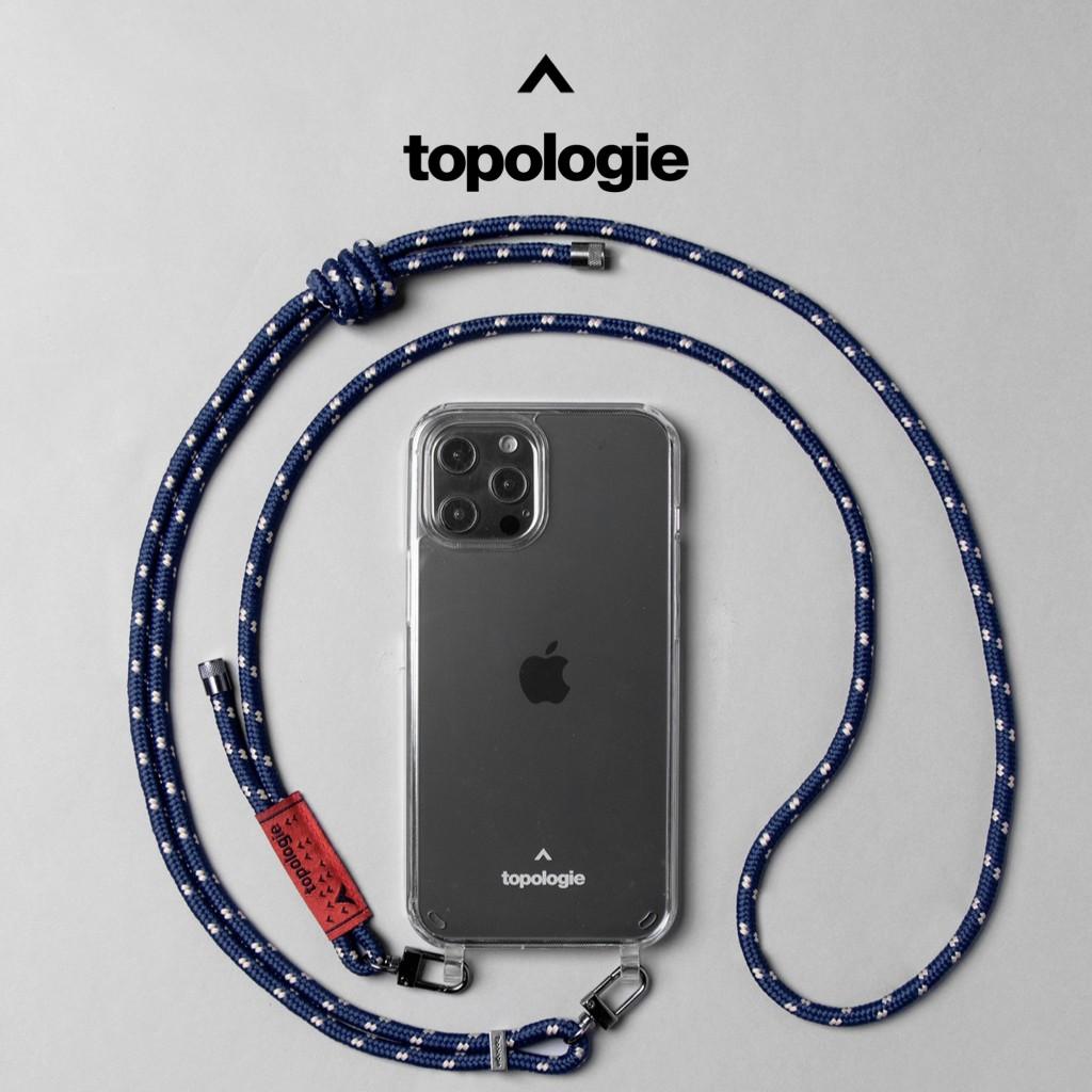 Topologie Verdon 可拆式繩索背帶手機殼/藏青