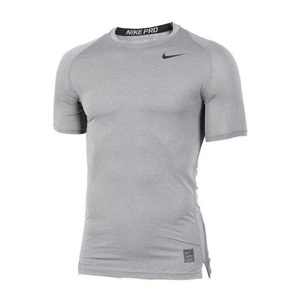 NIKE DRI FIT運動短袖緊身衣 灰色 703095-091