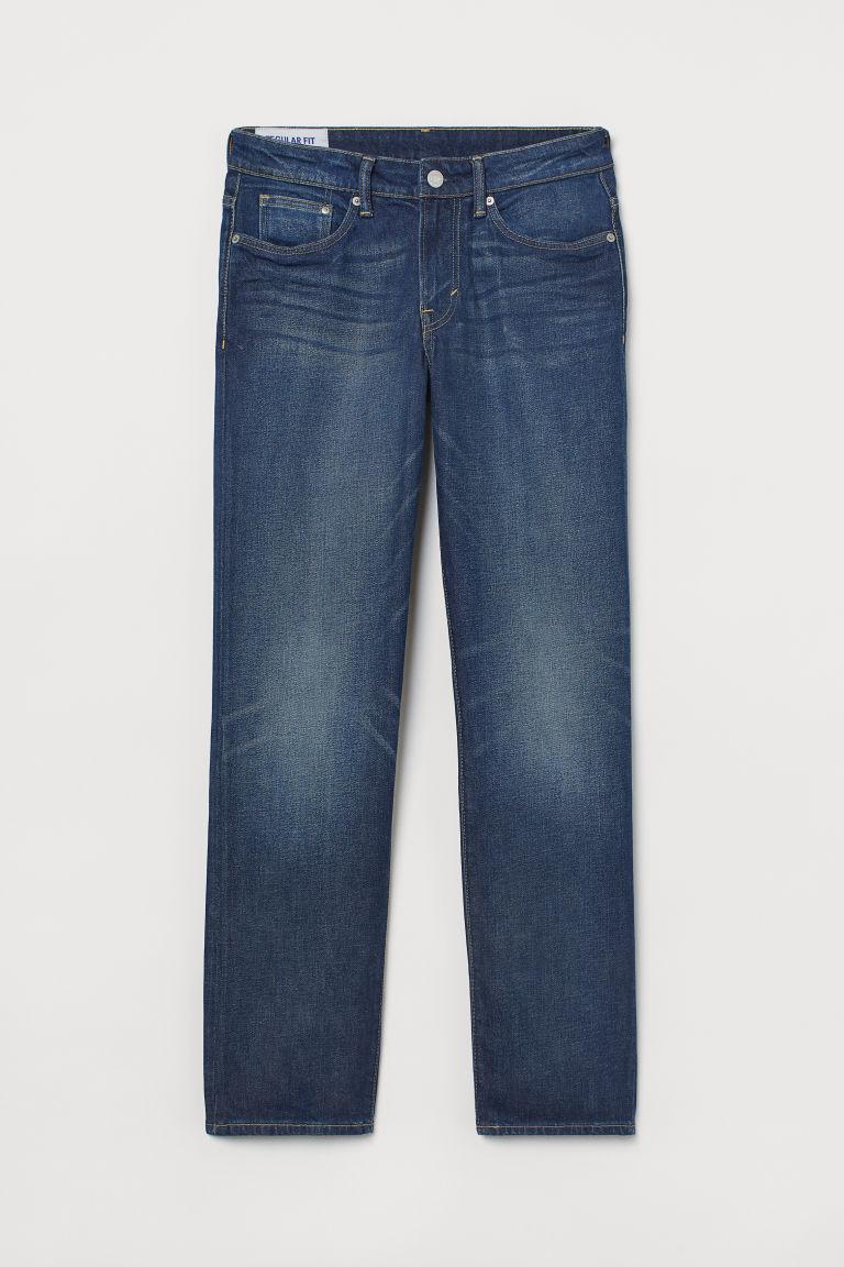 H & M - 中腰牛仔褲 - 藍色