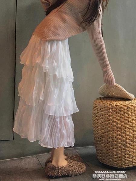 蛋糕裙 雪紡半身裙蛋糕裙女春夏2021新爆款小個子蓬蓬裙網紗仙女初戀裙子 新品