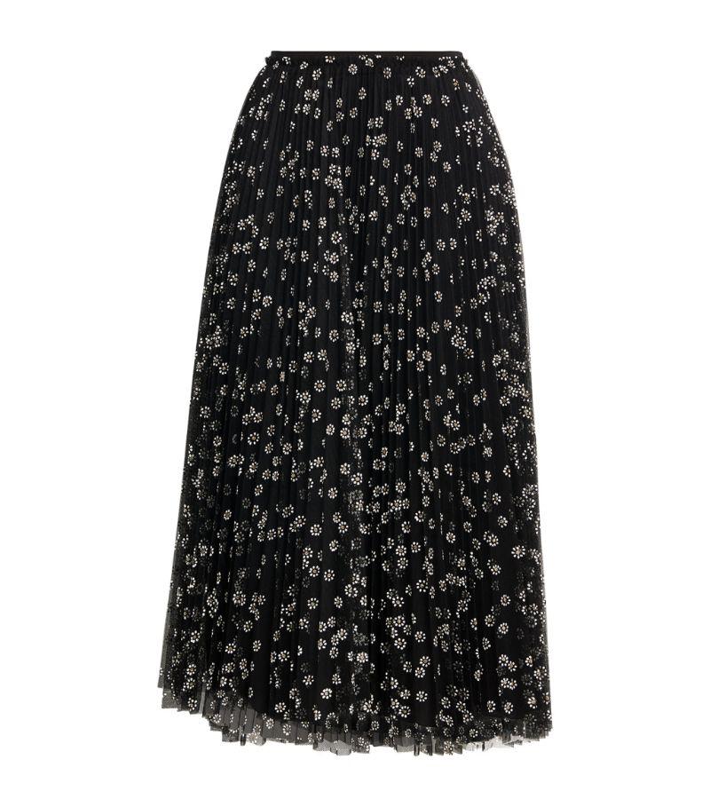 Red Valentino Daisy Tulle Midi Skirt