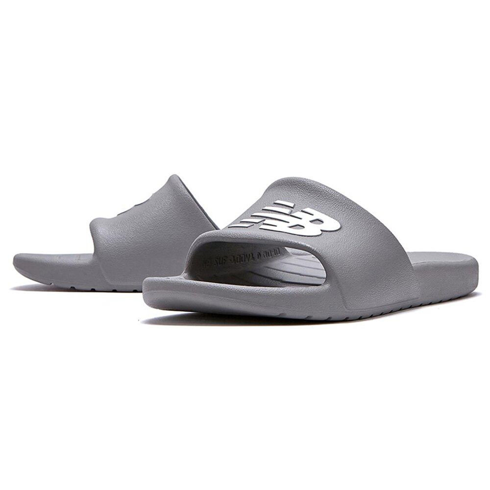 【領券最高折$300】New Balance D 男鞋 女鞋 拖鞋 休閒 輕量 防水 一體成形 灰【運動世界】SUF100TG