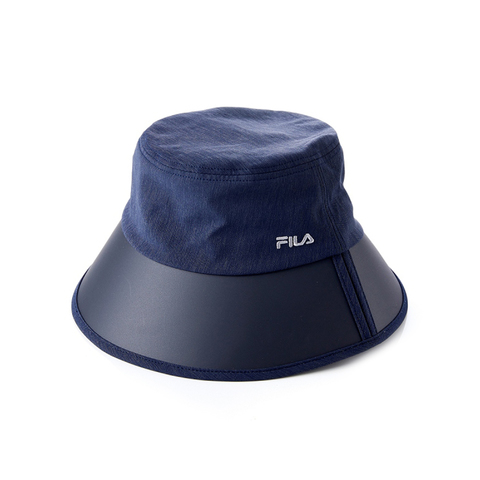 FILA 時尚遮陽筒帽-丈青 HTV-1008-NV