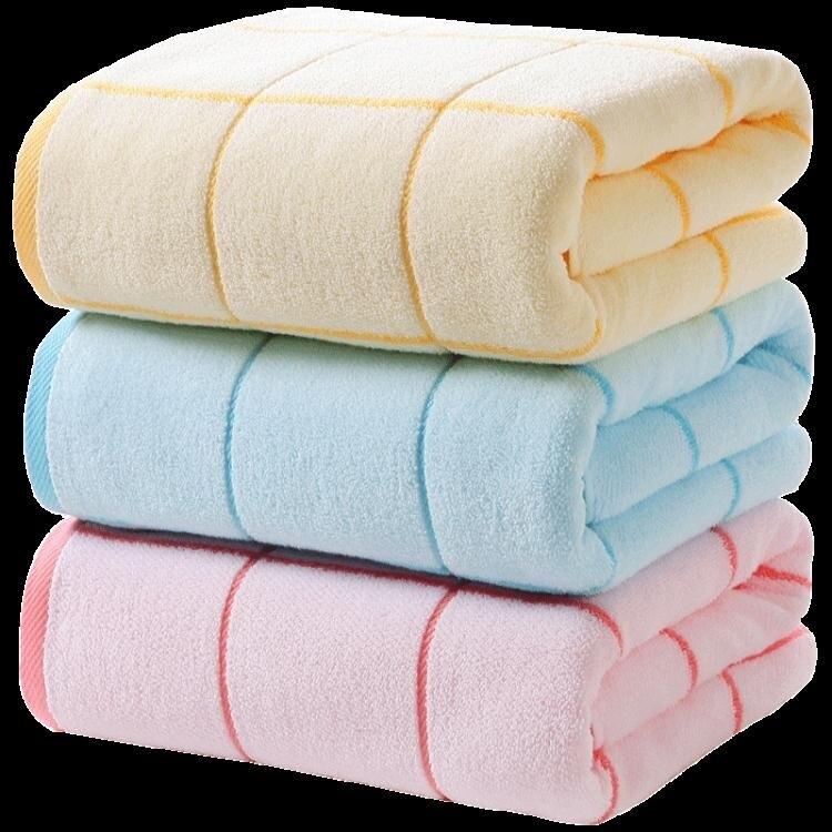 樂天精選 快速出貨 純棉大浴巾成人男女大毛巾全棉吸水厚實柔軟素色家用易乾