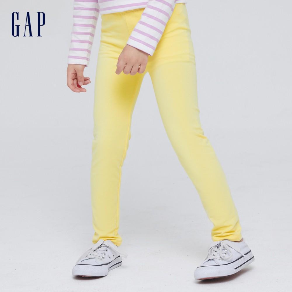 Gap 女幼童 童趣印花鬆緊內搭褲 664107-黃色