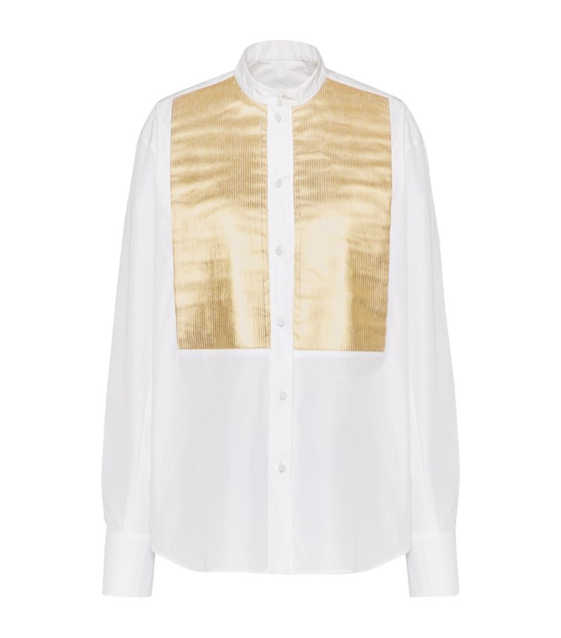 Valentino Pleated-Front Shirt
