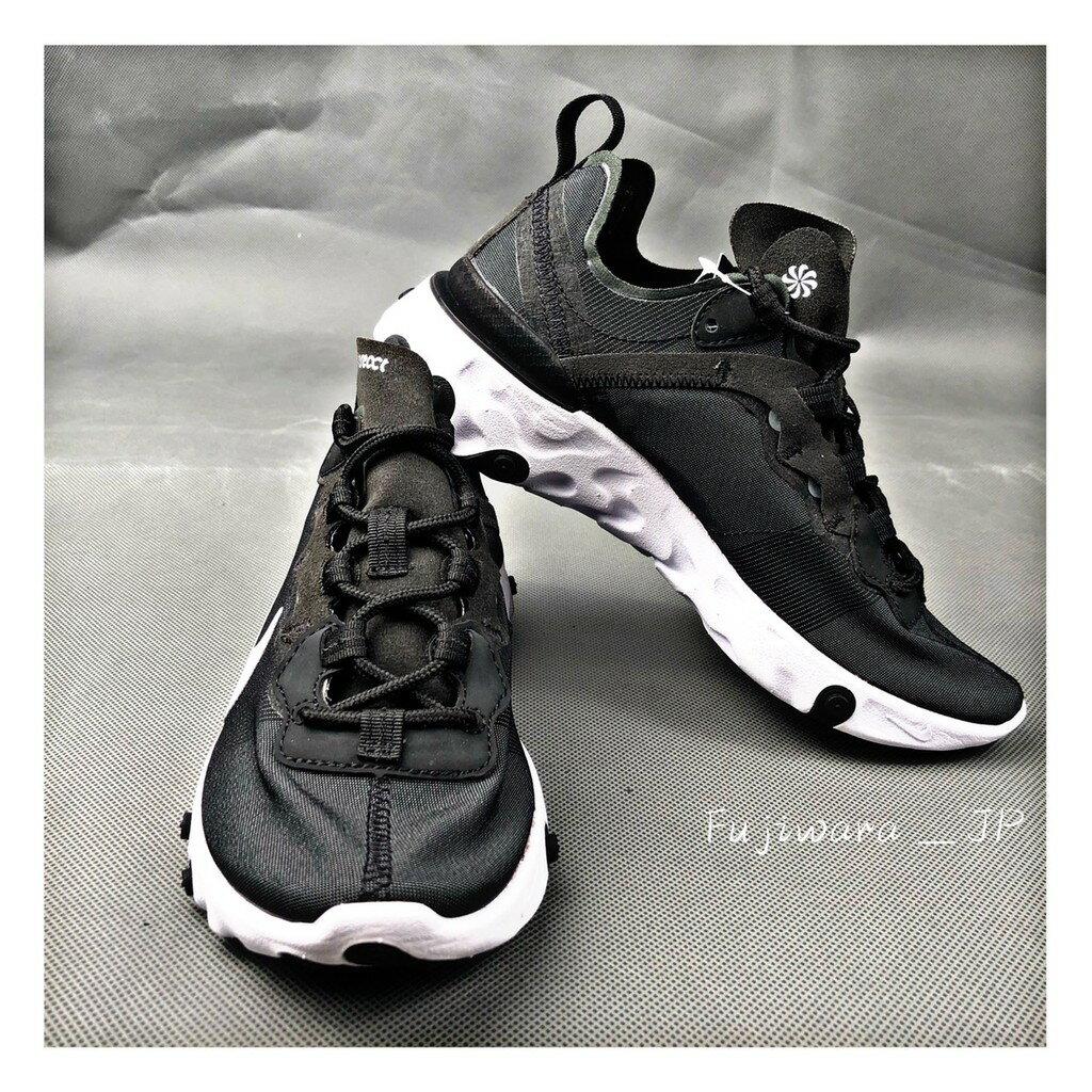 Nike React Element 55 黑白 慢跑 女鞋 BQ2728-003 『Fujiwara_JP』