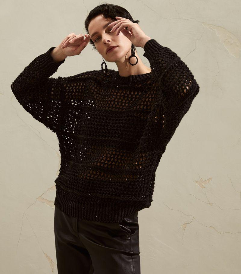 Brunello Cucinelli Open-Knit Sweater