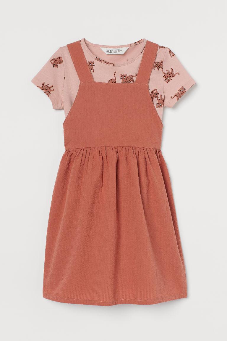 H & M - 棉質2件組套裝 - 橙色