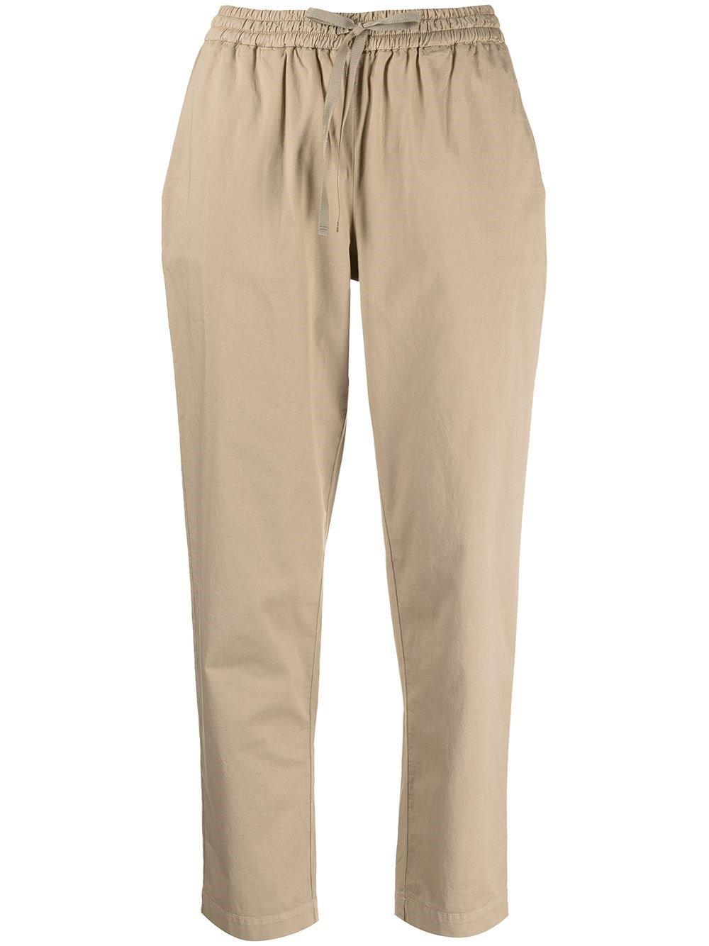 Buddy Beige Cotton Crop Pants
