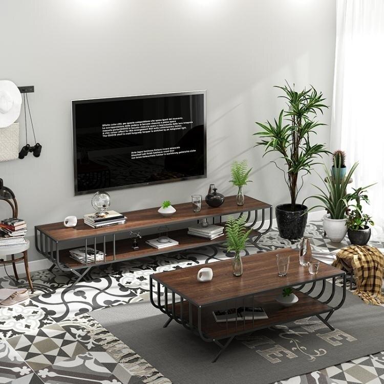 茶几北歐茶幾現代簡約客廳長方形小戶型鐵藝迷你創意多功能簡易茶桌