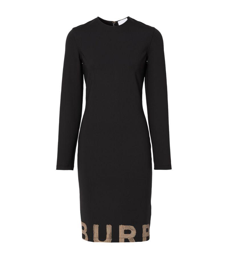 Burberry Logo-Detail Long-Sleeved Dress