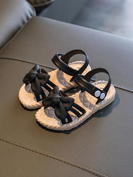 兒童涼鞋 女童涼鞋2021新款兒童寶寶公主夏季軟底防滑可愛女孩夏小孩蝴蝶結 歐歐