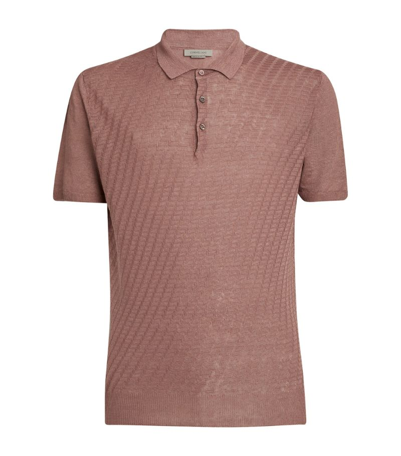 Corneliani Linen Polo Shirt