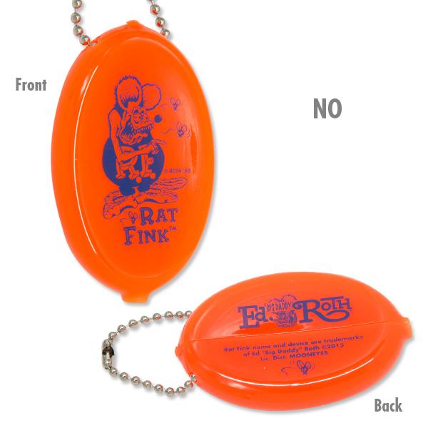 RAT FINK / RATFINK - RAF455 Oval Coin Case 橡膠 零錢包 (NO 螢光橘)