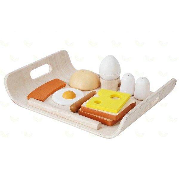 《  PLAN TOYS 》木製  小主廚-陽光早餐托盤 東喬精品百貨