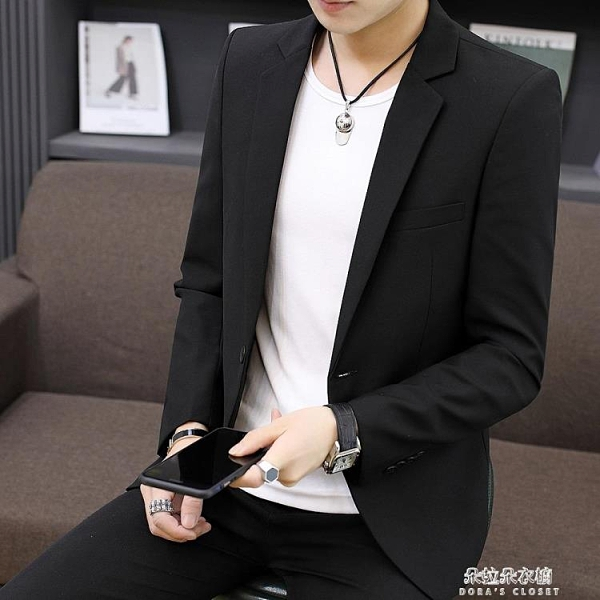 男士小西裝外套韓版修身西服套裝商務休閒結婚職業正裝上衣男 朵拉朵衣櫥