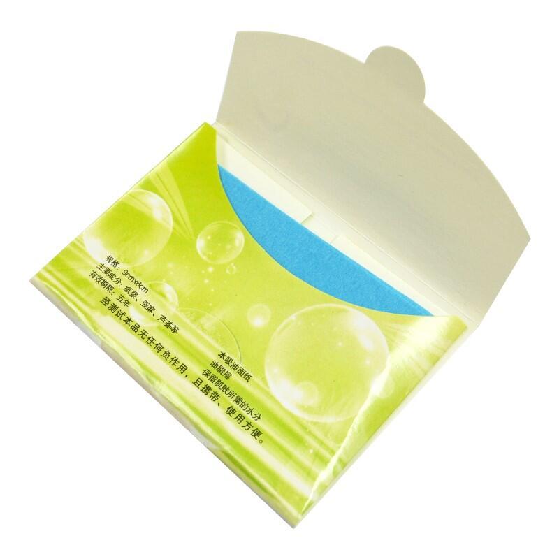 蘆薈吸油面紙60入 攜帶式吸油面紙 控油紙 擦臉吸油紙清潔紙巾【DP264】  123便利屋