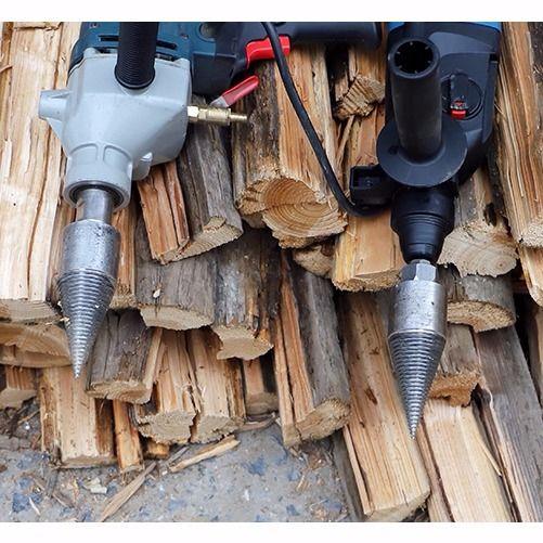 劈材神器家用劈柴機鑽頭小型電動電錘破柴分裂錐辟木頭木機器農村