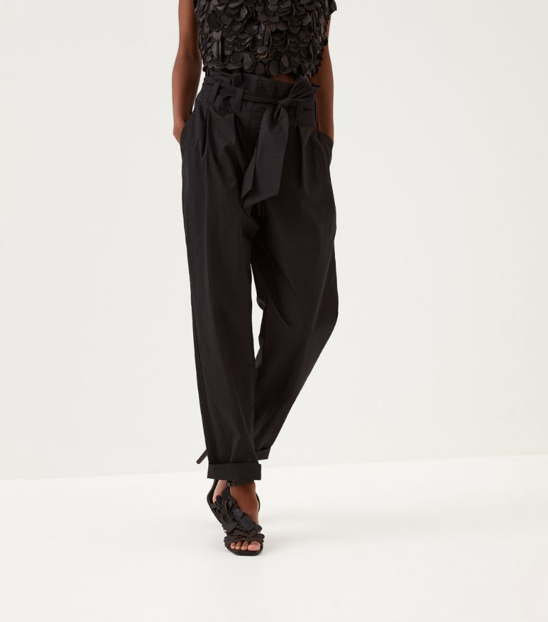 Brunello Cucinelli Belted High-Rise Trousers