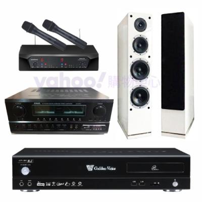 金嗓 CPX-900 R2+SA-830U+CHIAYO NDR-2620+AS-168W(伴唱機4TB+卡拉OK套組)