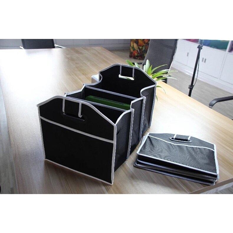【大容量+可折疊】車用儲物盒 汽車折疊收納箱 多功能后備箱儲物 無紡布車用置物箱