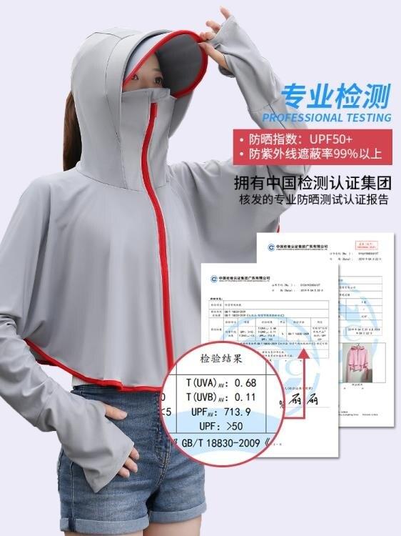防曬衣 防曬衣女2021夏季新款騎車冰絲防曬服紫外線透氣防曬罩衫長袖外套 果果輕時尚