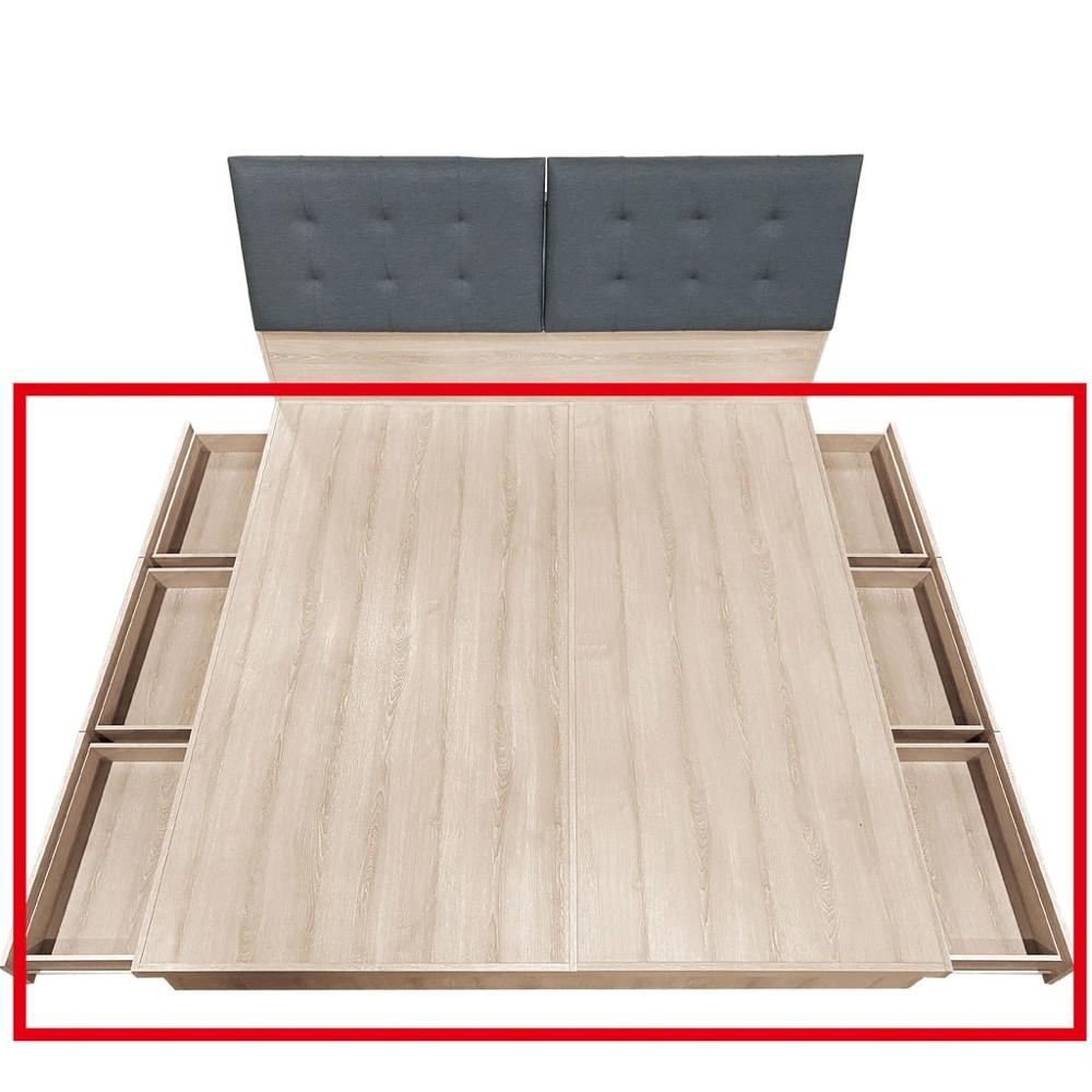 152cm六抽床底-a001-4床底 單人床架 高腳床組 抽屜收納 臥房床組 金滿屋
