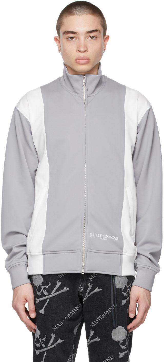mastermind WORLD 灰色 & 白色 Two Color 运动夹克