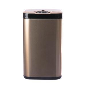 ELPHECO不鏽鋼除臭感應垃圾桶20L-金色