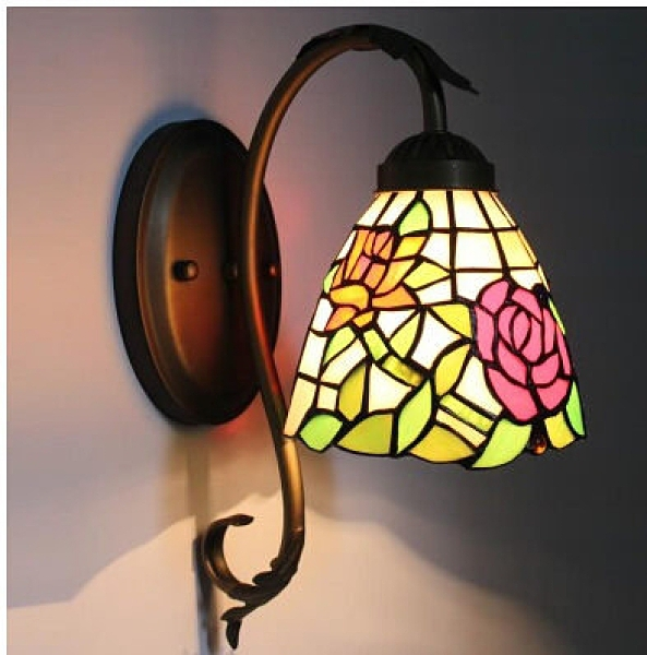 超實惠 歐式陽台燈走廊樓道過道臥室床頭壁燈溫馨玫瑰田園暖色壁燈628W-D