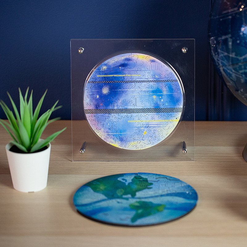 【HelloFish海裡魚】星球系列 | 水星 Mercury 木質拼圖 (130件)