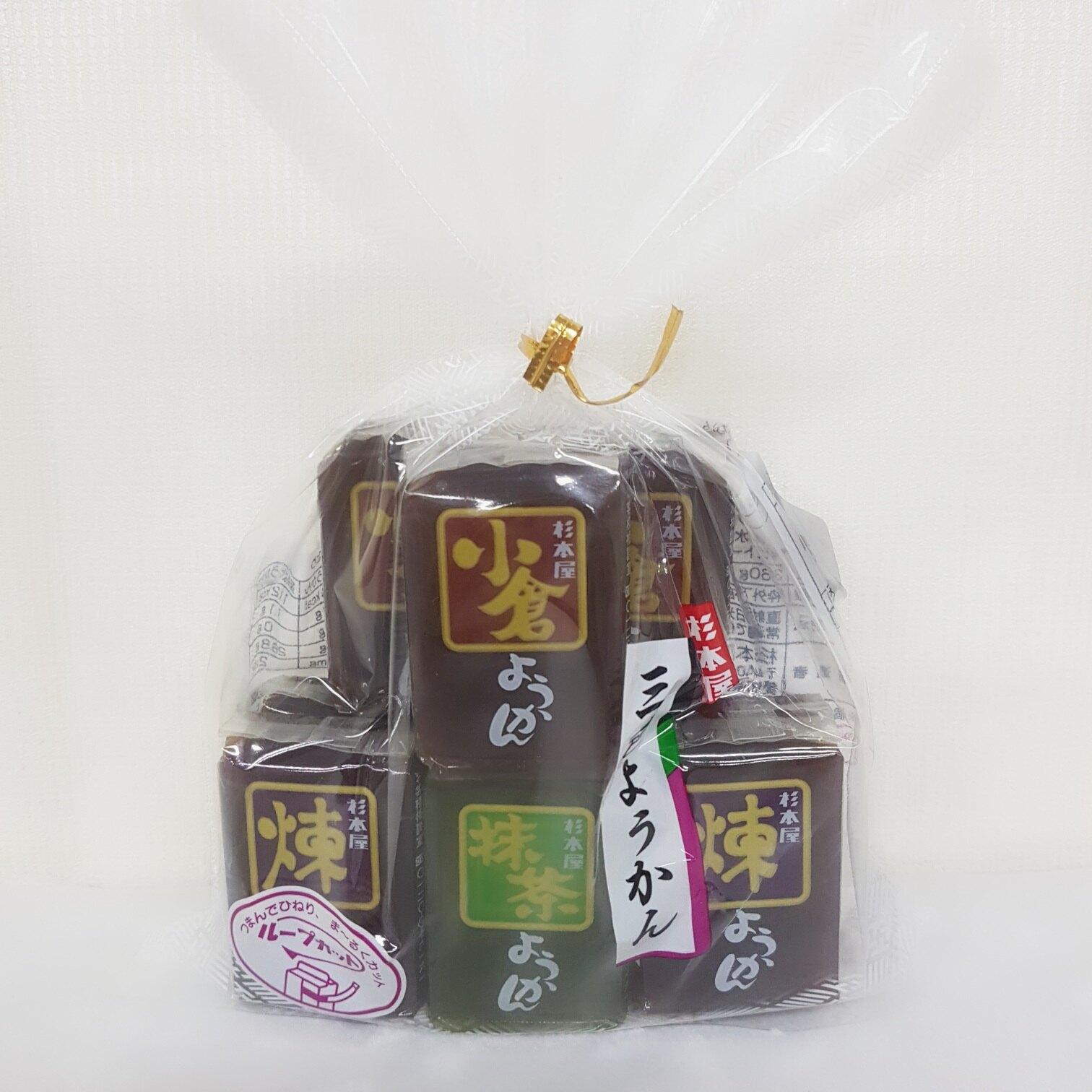 日本-杉本屋三色羊羹-360g包