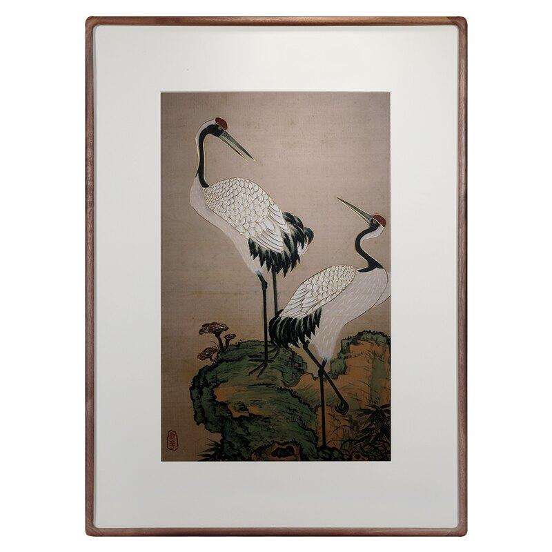 手工鏨刻銅雕畫《松鶴延年》家居裝飾畫客廳書房玄關壁畫賀壽禮品HXJ3 艾琴海小屋