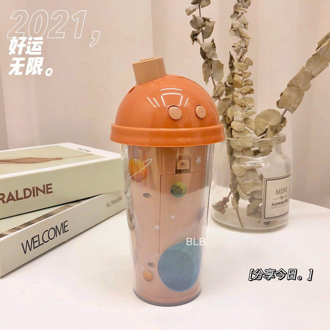 洛優米奶茶杯泡泡機兒童自動吹泡泡聲光音樂玩具抖音網紅同款
