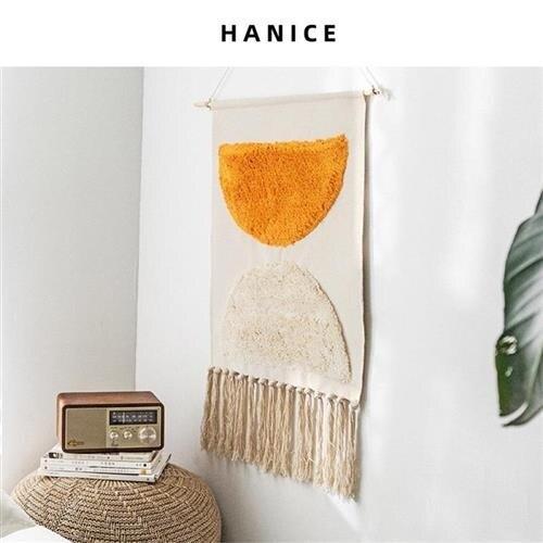 電表箱遮擋掛布墻上裝飾畫布掛畫北歐布藝掛毯房間背景布布畫壁毯 摩可美家