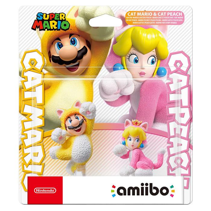 【amiibo】amiibo 貓咪組合 瑪利歐+碧姬公主 (超級瑪利歐3D世界系列)