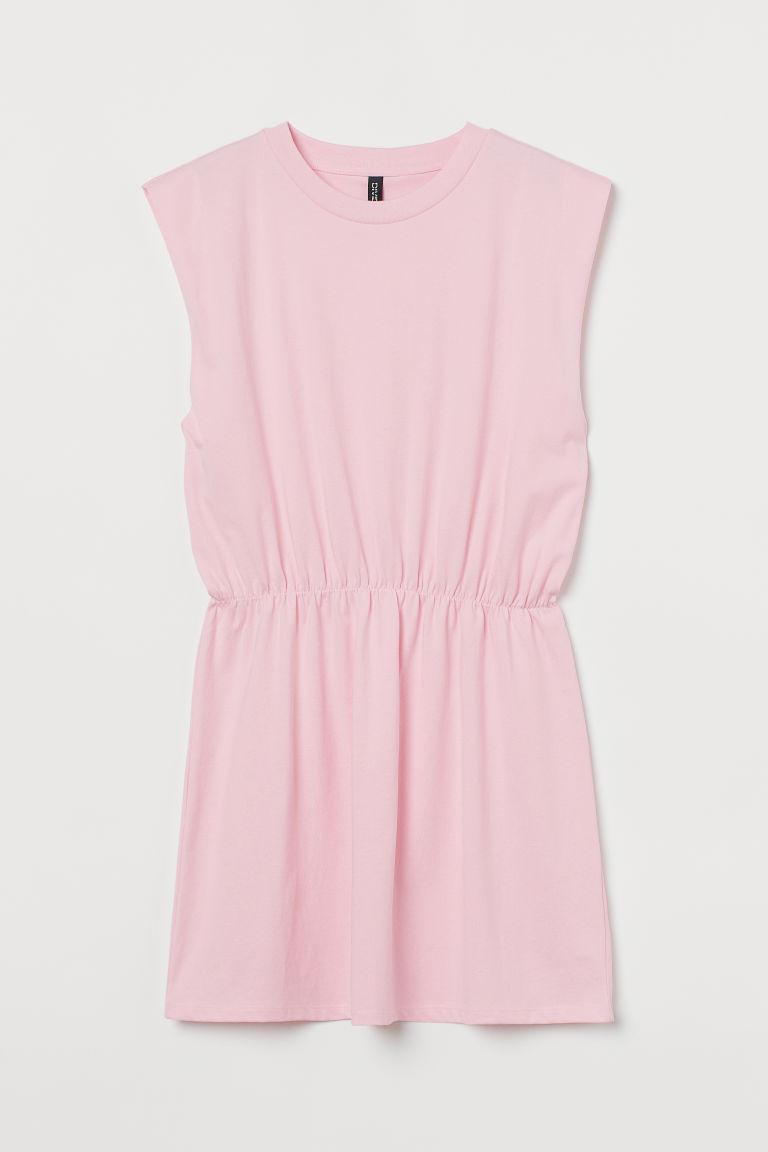H & M - 平紋洋裝 - 粉紅色