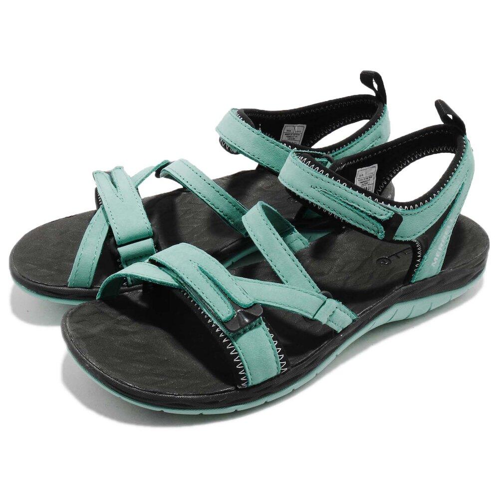 MERRELL 涼拖鞋 Siren Strap Q2 女鞋 戶外 綁帶 輕量 運動涼鞋 水陸兩棲 綠 黑 [ML12712]