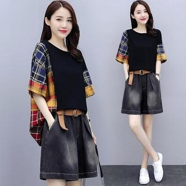 短T 短袖T恤 上衣寬鬆韓版大碼裝洋氣顯瘦小個子減齡上衣NE02韓衣裳