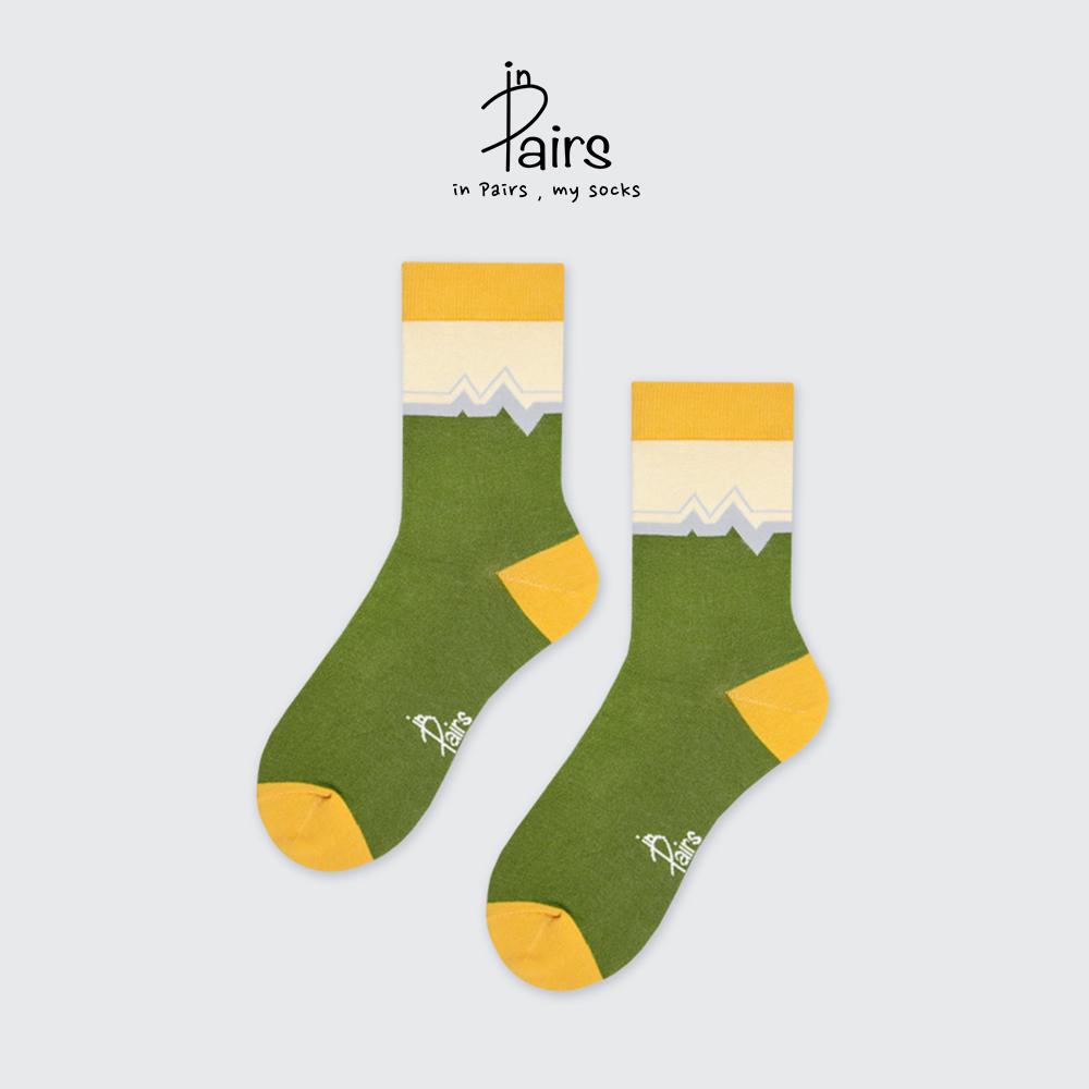【in Pairs】心電圖中筒襪-綠M 【康是美】