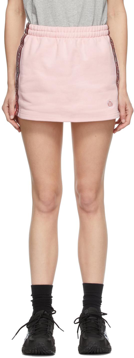 VETEMENTS 粉色徽标短裙