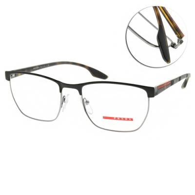 PRADA光學眼鏡 經典眉框款/黑 #VPS50L LAH-1O1-55mm